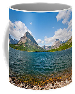 Grinnell Point From Swiftcurrent Lake Coffee Mug by Jeff Goulden