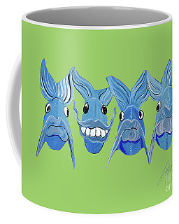 Grinning Fish Coffee Mug