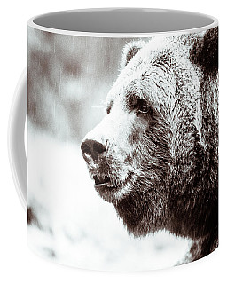 Grizzly In Black And White Coffee Mug