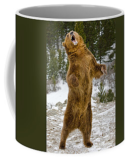 Grizzly Standing Coffee Mug by Jerry Fornarotto