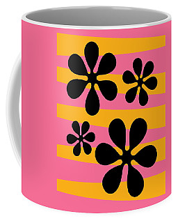 Coffee Mug featuring the digital art Groovy Flowers I by Donna Mibus