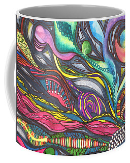 Groovy Series Titled Thoughts Coffee Mug by Chrisann Ellis