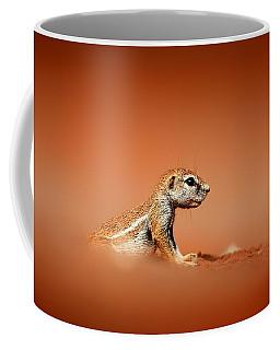Ground Squirrel On Red Desert Sand Coffee Mug