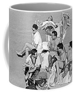 Group Of Men Sunbathing Coffee Mug