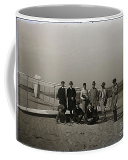 The Wright Brothers Group Portrait In Front Of Glider At Kill Devil Hill Coffee Mug
