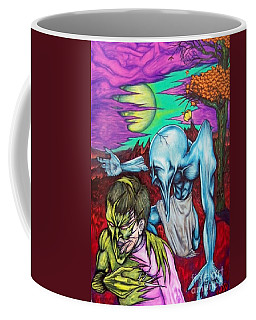 Coffee Mug featuring the drawing Growing Evils by Michael  TMAD Finney