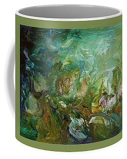 Coffee Mug featuring the painting Growing by Mary Wolf