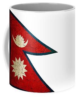 Grunge Nepal Flag Coffee Mug