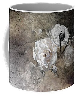 Grunge White Rose Coffee Mug