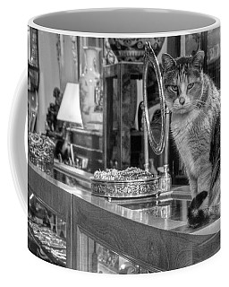 Guard Cat Coffee Mug by Ron White