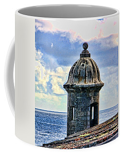 Coffee Mug featuring the photograph Guard Tower At El Morro by Daniel Sheldon
