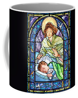 Guardian Angel With Sleeping Boy Coffee Mug