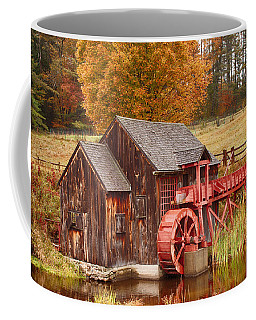 Coffee Mug featuring the photograph Guildhall Grist Mill by Jeff Folger