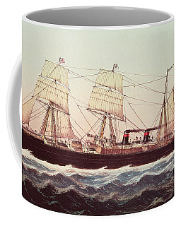 Guion Line Steampship Arizona Of The Greyhound Fleet Coffee Mug
