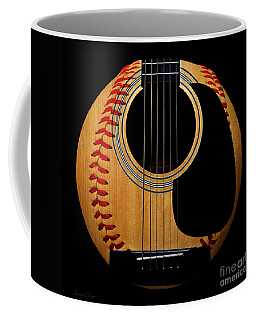 Guitar Baseball Square Coffee Mug