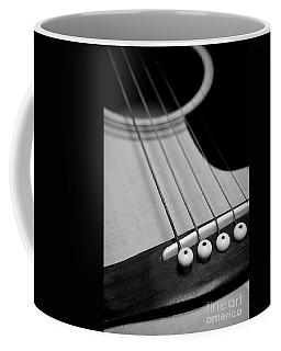 Guitar Bridge In Black And White Coffee Mug
