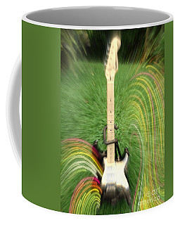 Coffee Mug featuring the photograph Guitar Flash by The Art of Alice Terrill