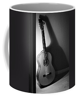 Guitar Still Life In Black And White Coffee Mug