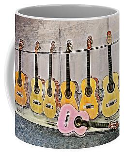 Coffee Mug featuring the digital art Guitars by Erika Weber