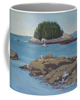 Gulls At Five Islands - Art By Bill Tomsa Coffee Mug