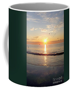 Gulls Dance In The Warmth Of The New Day Coffee Mug