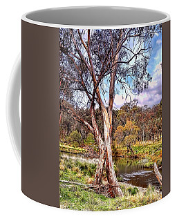 Coffee Mug featuring the photograph Gum Tree By The River by Wallaroo Images