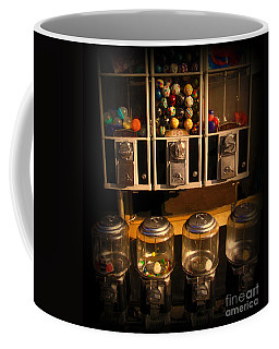 Gumball Memories - Row Of Antique Vintage Vending Machines - Iconic New York City Coffee Mug