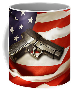 Gun On Flag Coffee Mug