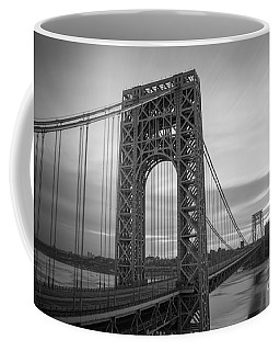Gw Bridge Winter Sunrise Coffee Mug