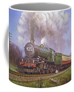Gwr King Class On Dainton Bank. Coffee Mug