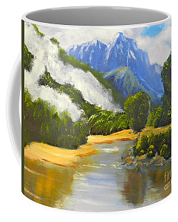 Coffee Mug featuring the painting Haast River New Zealand by Pamela  Meredith