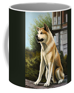 Hachi Painting Coffee Mug by Paul Meijering