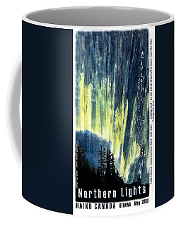 Coffee Mug featuring the photograph Haiga Poster Haiku Canada Conference  by Peter v Quenter
