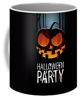 Coffee Mug featuring the painting Halloween Party by Gianfranco Weiss