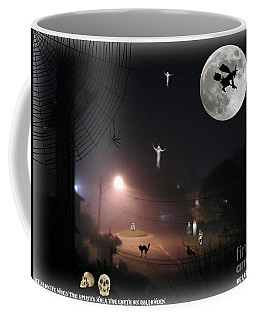 Halloween Spooks Coffee Mug by Leanne Seymour