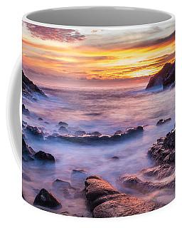 Halona Cove Sunrise 3 Coffee Mug by Leigh Anne Meeks