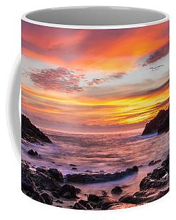 Halona Cove Sunrise 4 Coffee Mug by Leigh Anne Meeks