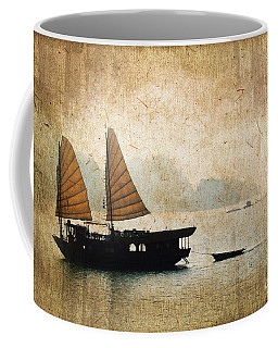 Halong Bay Vintage Coffee Mug by Delphimages Photo Creations