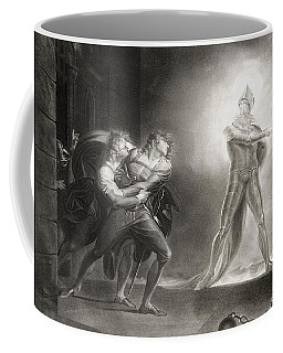 Hamlet, Act I, Scene Iv, By William Shakespeare 1564-1616 Engraved By Robert Thew 1758-1802 Litho Coffee Mug