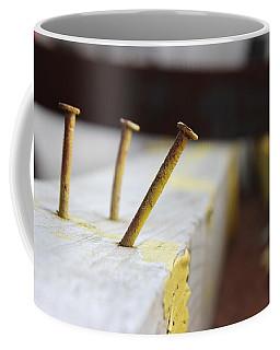 Hammer And Nail Coffee Mug by Tiffany Erdman