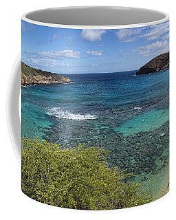 Hanauma Bay Panorama Coffee Mug by David Smith