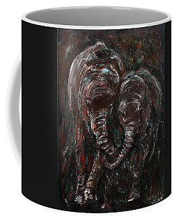 Coffee Mug featuring the painting Hand In Hand by Xueling Zou
