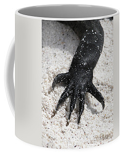 Coffee Mug featuring the photograph Hand Of A Marine Iguana by Liz Leyden