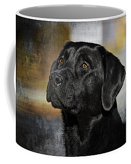 Coffee Mug featuring the photograph Handsome Black Lab by Eleanor Abramson