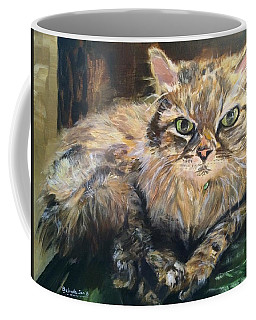 Coffee Mug featuring the painting Handsome Toby by Belinda Low