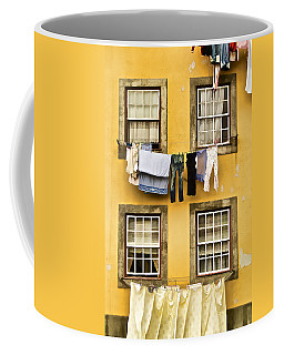 Hanging Clothes Of Old World Europe Coffee Mug