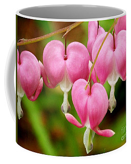 Hanging Hearts In Pink And White Coffee Mug