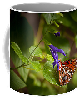 Coffee Mug featuring the photograph Hanging On by Penny Lisowski