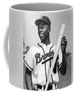 Hank Aaron Poster Coffee Mug by Gianfranco Weiss
