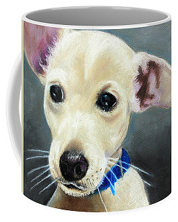 Coffee Mug featuring the painting Hank by Jeanne Fischer